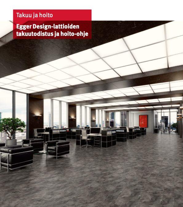HOME Design-lattioiden takuutodistus ja hoito-ohje