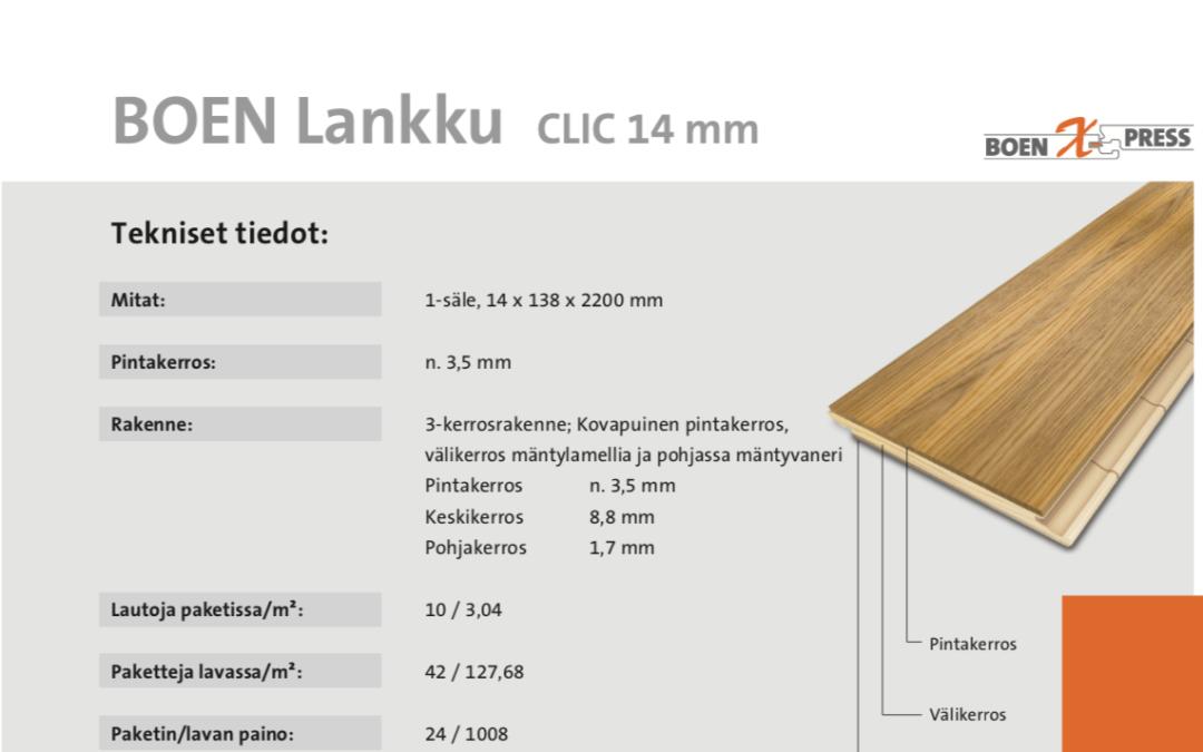 Tekninen tuotetieto lankku 138 mm